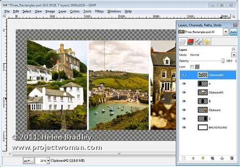 design website layout using gimp create a collage in gimp