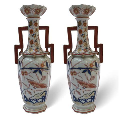 vasi di porcellana coppia di vasi francesi in porcellana samson 1800
