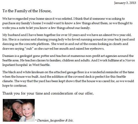 Offer Letter Home Buyer And Iris Grava Buyer Letter Photo Grava Family Courtesy Redfin Images Frompo