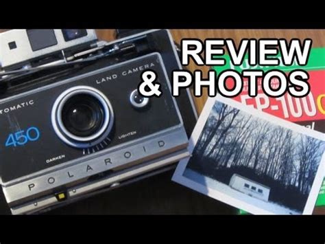 polaroid 450 instant film photography camera review and