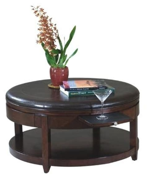 coffee table with pull out ottomans round cocktail ottoman with casters pull out trays for