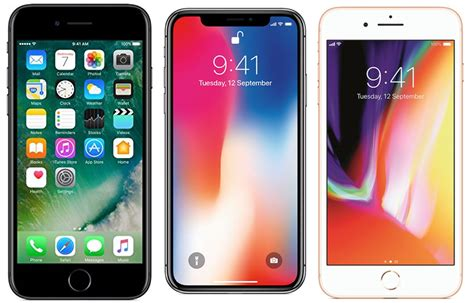 apple iphone x vs apple iphone 8 plus vs apple iphone 7 price in india specifications and