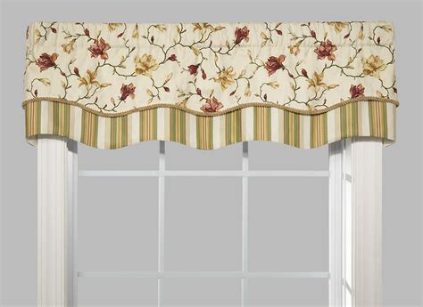 Scalloped Valance Curtains Scalloped Valances Patterned Solid Colored