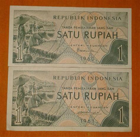 Uang Kuno 2 5 Rupiah Tahun 1961 jual uang kuno set 1 rupiah sandang pangan tahun 1960
