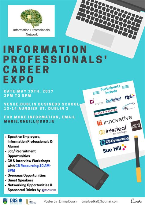 poster design job description information professionals network careers expo 2017
