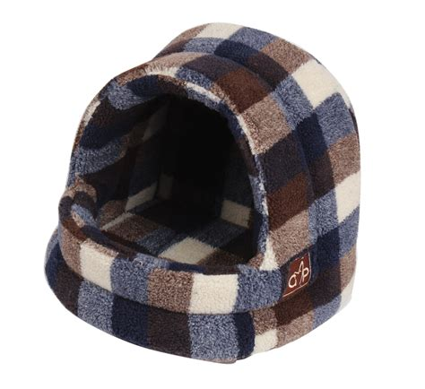 hooded cat bed highland hooded cat bed autumn check