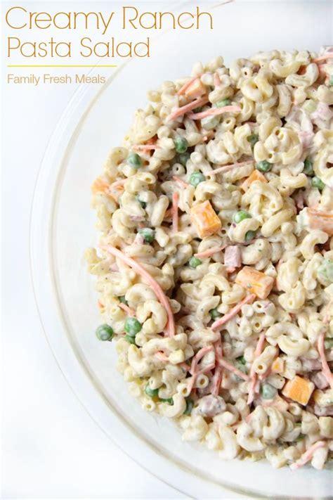 creamy pasta salad favehealthyrecipes com creamy ranch pasta salad recipe macaroni pasta dive