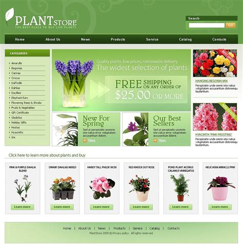 flower design website flowers website template web design templates website