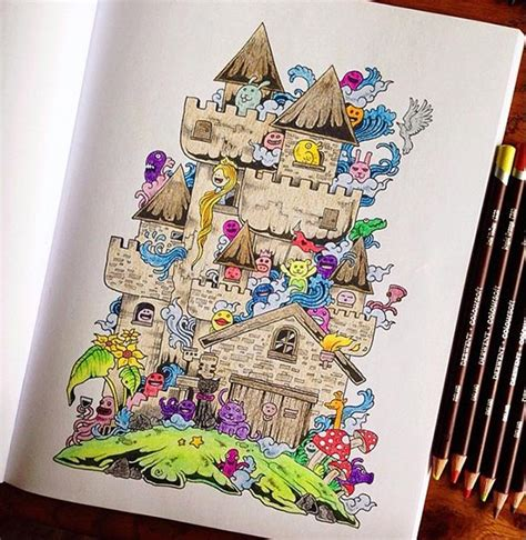 how to create a doodle book coloring book for adults titled doodle by kerby