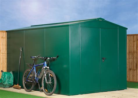 Secure Garden Sheds by 7 X 11 Large Secure Metal Garden Shed Asgard