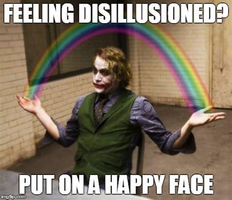 Happiness Meme - joker rainbow hands meme imgflip