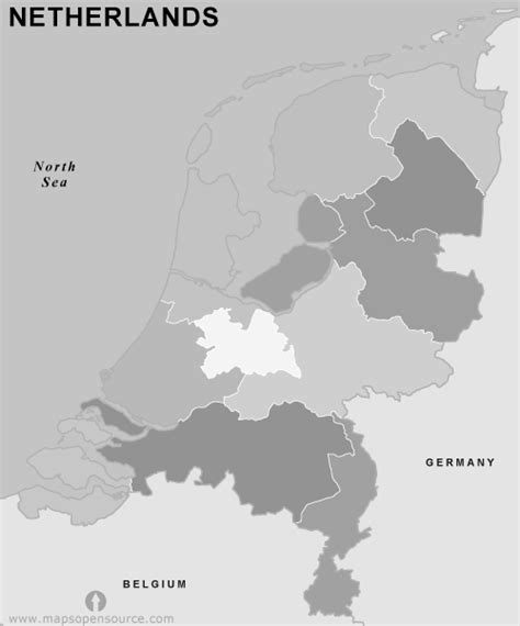 netherlands map black and white free netherlands provinces outline map black and white