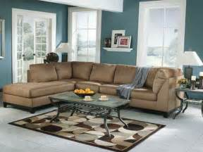 miscellaneous brown and blue living room interior