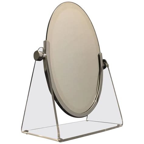 Chrome Vanity Mirror by Acrylic And Chrome Vanity Mirror By Charles Hollis Jones For Sale At 1stdibs