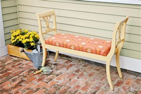 diy chair bench how to build an outdoor bench from dining chairs this