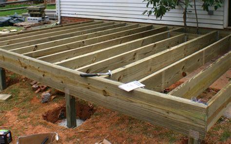 wood deck installation deck installation