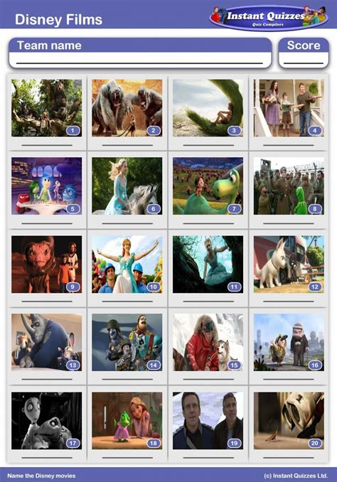 disney film quiz online disney films picture quiz