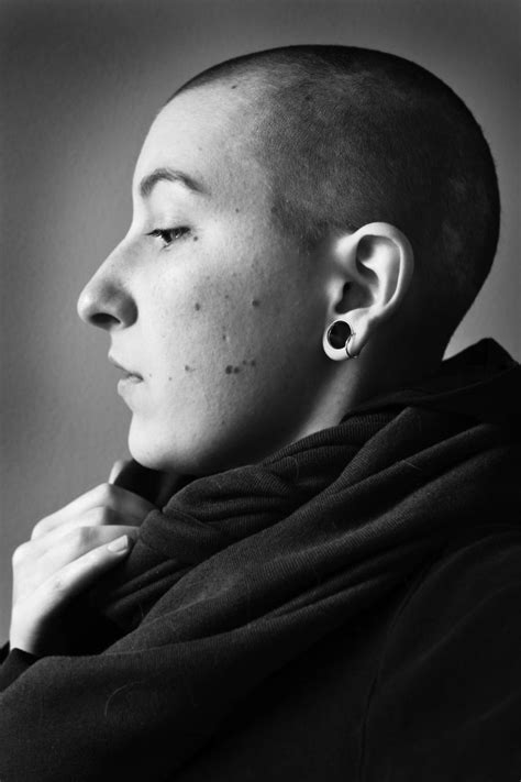 shaved hair by ear 46 best 166 take it all off images on pinterest