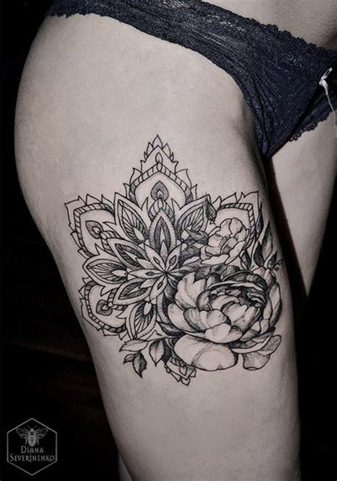 flower thigh tattoo 50 mandala design ideas nenuno creative