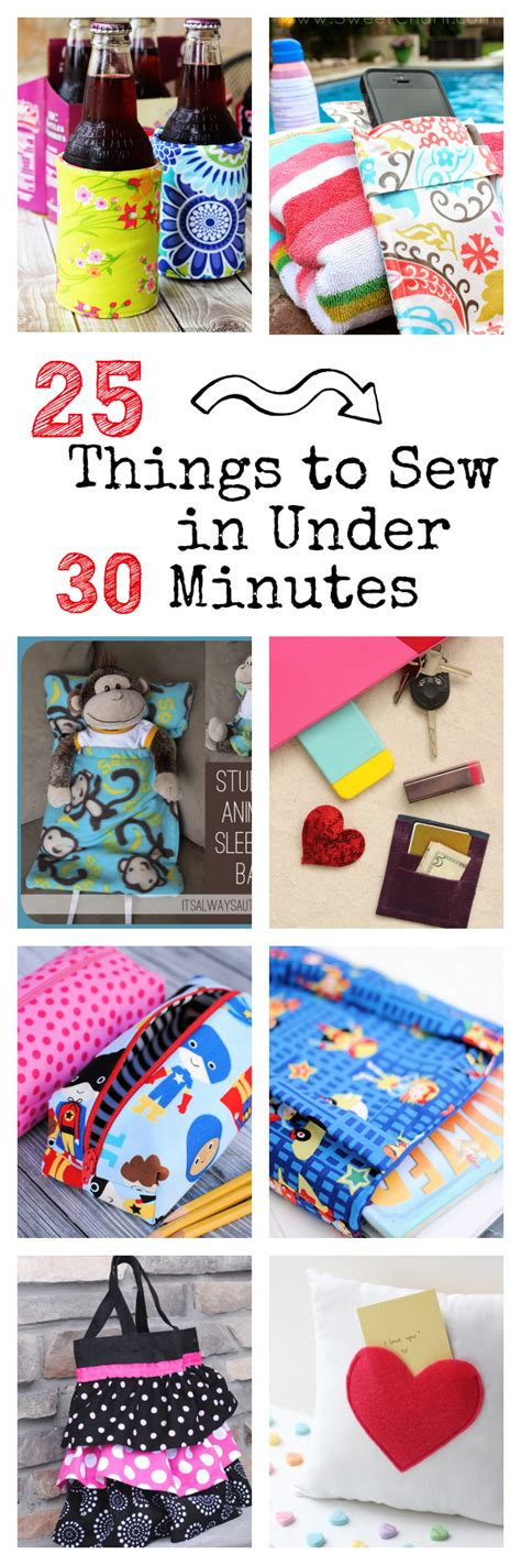 30 minute craft projects 25 things to sew in 30 minutes 30th sewing
