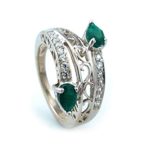 emerald quartz silver ring silverbestbuy