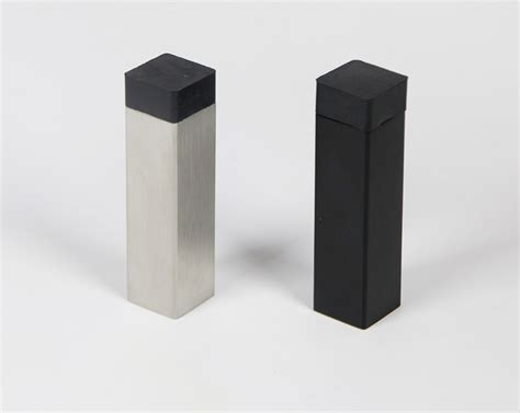 Kitchen Cabinet Door Stoppers by Modern Square Door Stop Baseboard Wall Mounted Toronto