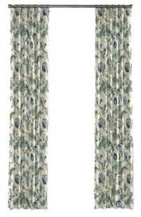 blue jacobean floral custom drapery panel traditional