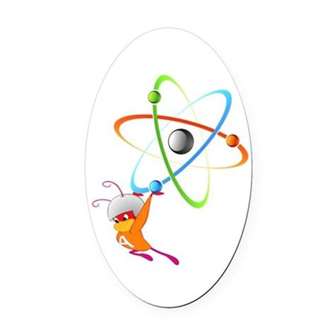 Ant Ovale atom ant oval car magnet by ozdilh