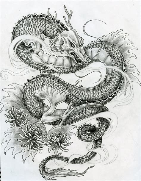 dragon tattoo drawing japanese tattoos on