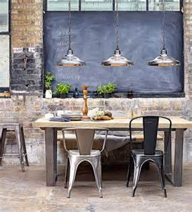 Industrial Style Dining Room Lighting 25 Industrial Dining Room With Masculine Interiors Home Design And Interior