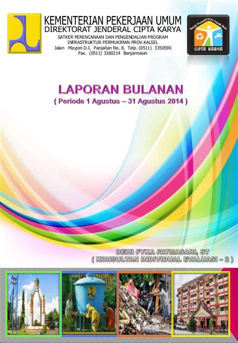 download contoh cover laporan cover pages pinterest cover laporan bulanan fyka