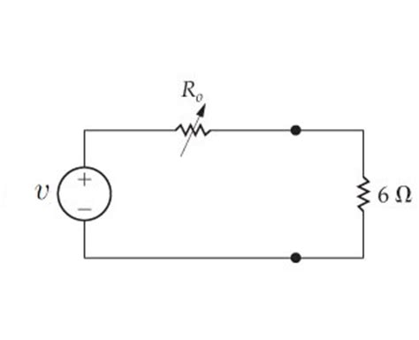 what value of power is dissipated by a 5 ko resistor when 30ma flows through it a find the value of the variable resistor ro in t chegg
