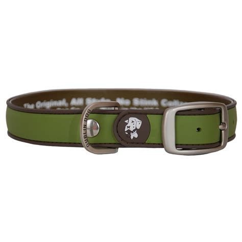 waterproof collars dublin waterproof collar simply solid brown olive pet365 co uk