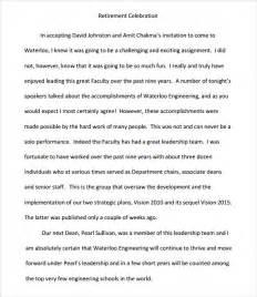retirement speech template retirement speech exles 8 documents in pdf