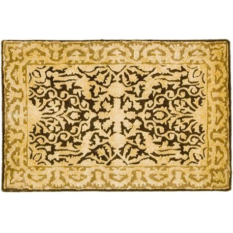 brown accent rug safavieh silk road brown ivory 2 ft x 3 ft accent rug