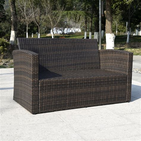 outdoor wicker patio furniture sets giantex 4pc wicker sofa outdoor patio furniture set