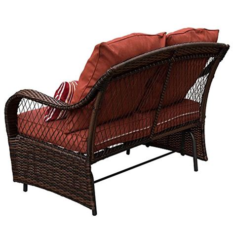wicker loveseat glider sundale outdoor 2 person wicker loveseat glider bench