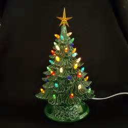 antique tree lights vintage style ceramic tree 11 inches by