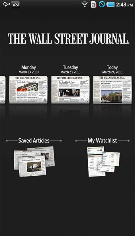 wsj app for android best apps for the motorola xoom android tablet android authority