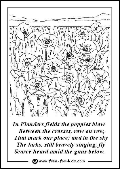 printable version of flanders fields poppies in flanders fields drawings pinterest