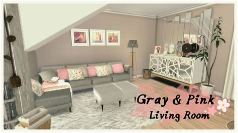 sims 4 gray pink living room room mods for