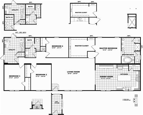 Large Modular Home Floor Plans by Wide Mobile Home Floor Plans Delightful Clayton