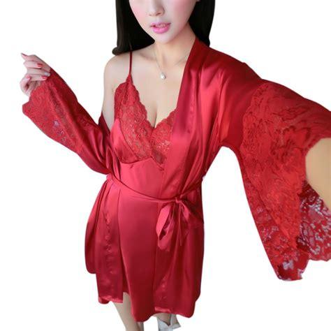 Baju Tidur Piyama Pajamas Sleepwear Murah 38315143 Pink buy grosir satin pakaian tidur set from china satin