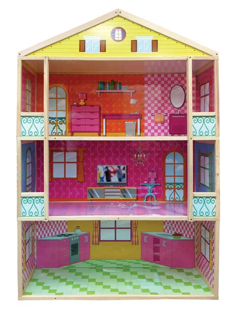 3 storey dolls house fortune east giant 3 story dollhouse toys games