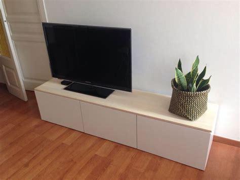 besta mueble tv mueble tv besta blanco de ikea decorado con tabl 243 n de
