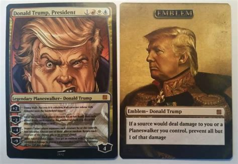 How To Add Money To Ebay Gift Card - donald trump planeswalker card and emblem magic the gathering ebay