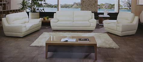 dado  piece italian top grain  white leather sofa set
