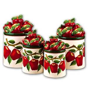 Apple Canisters For The Kitchen purchase apple 3 d canisters set of 4 new canister