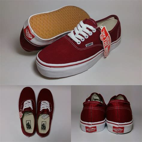 vans authentic classic maroon shoes shop id