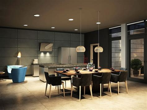 modern kitchen dining room design dark magic sophisticated kiev apartment with striking